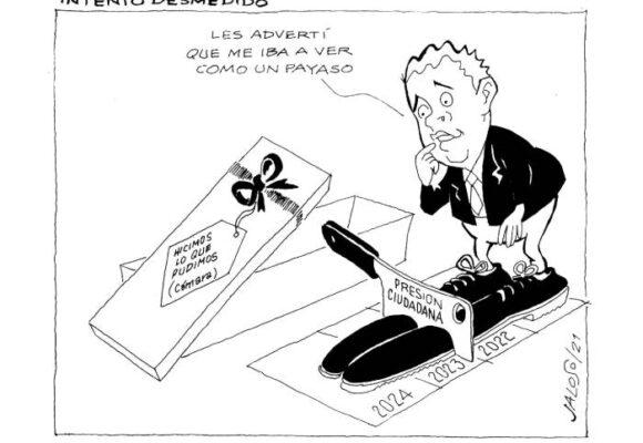 Caricatura: Intento desmedido