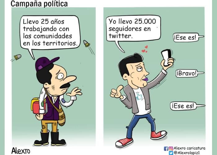 Caricatura: Campaña política