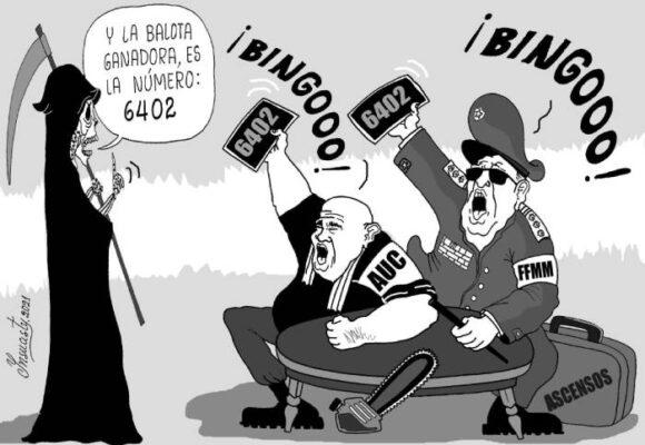 Caricatura: La ruleta de la muerte