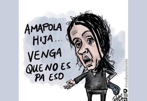 Caricatura: Mal trato, Amapola, mal trato