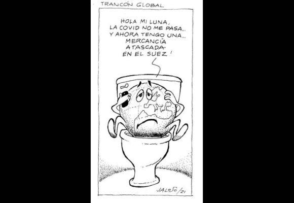 Caricatura: Trancón global