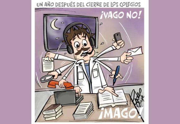 Caricatura: Hace un año los colegios cerraron sus puertas