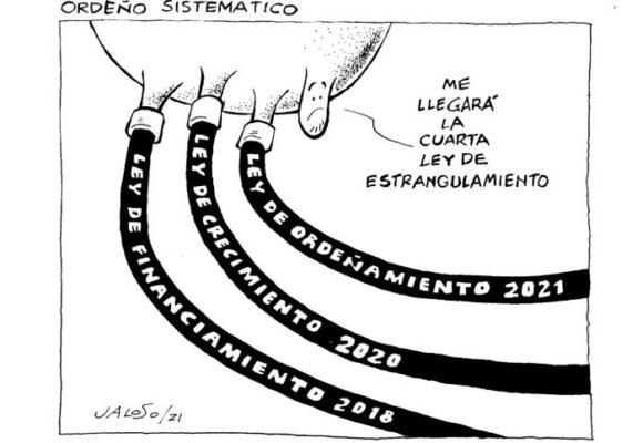 Caricatura: Ordeño sistemático