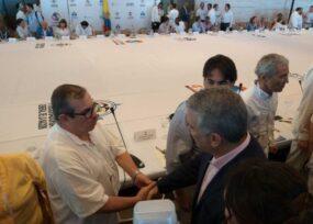 Encuentro privado Duque-Timochenko, anfitrión: Ruiz Massieu de la ONU