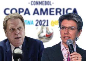 Claudia López y Ramón Jesurum: el pulso por la Copa América