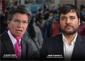 A excepción de Barranquilla, los alcaldes de las 4 grandes ciudades siguen a la baja