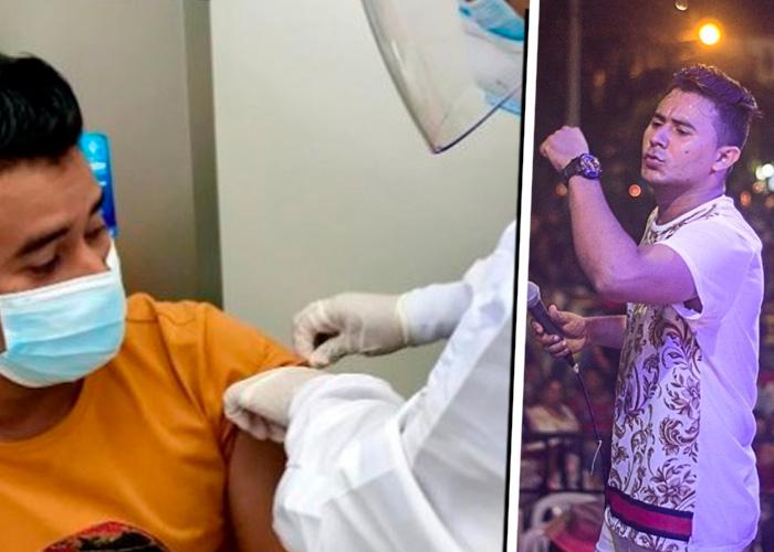 Escándalo: ¿Cantante vallenato se coló para recibir vacuna contra el COVID-19?