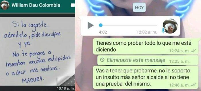 Vía WhatsApp, Day y Pérez intercambiaron mensajes sobre el caso.
