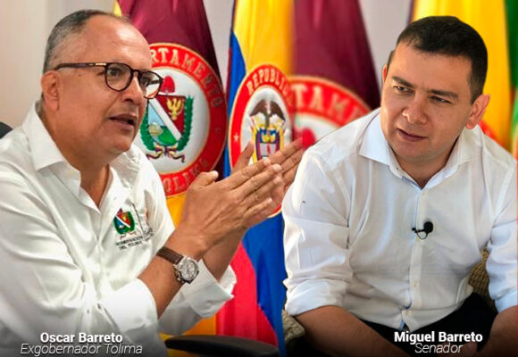 Duelo entre los primos Barreto por el control político del Tolima