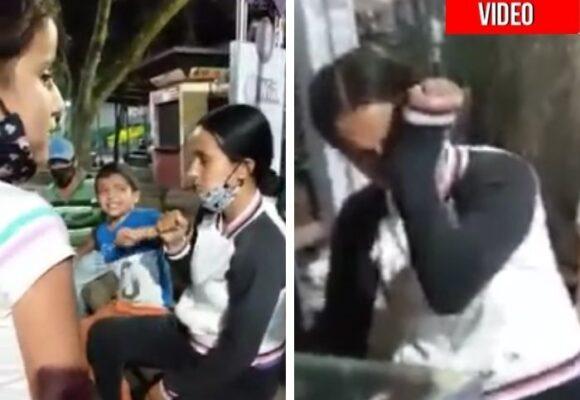 Mujer recibe tremenda golpiza de sus hijos en plena calle de Armenia