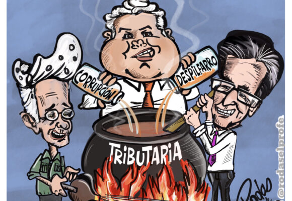Caricatura: Huele a paro nacional, ¡28A!