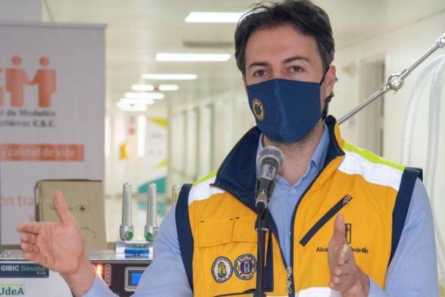 La desesperación del alcalde de Medellín ante tercer pico de pandemia