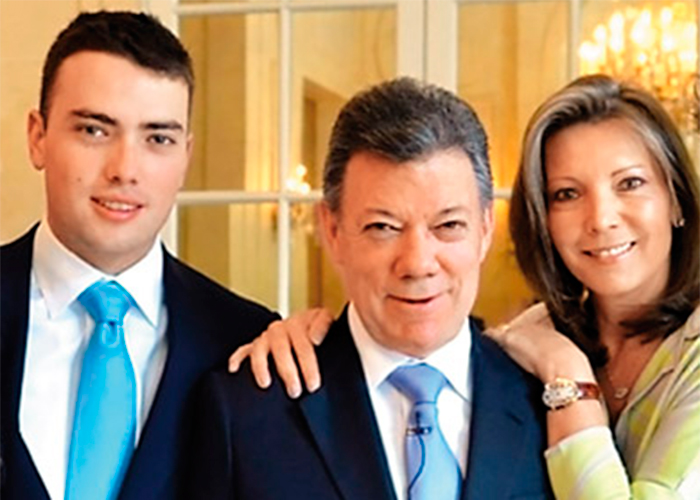 Hijo de Juan Manuel Santos es insultado por burlarse de Uribe