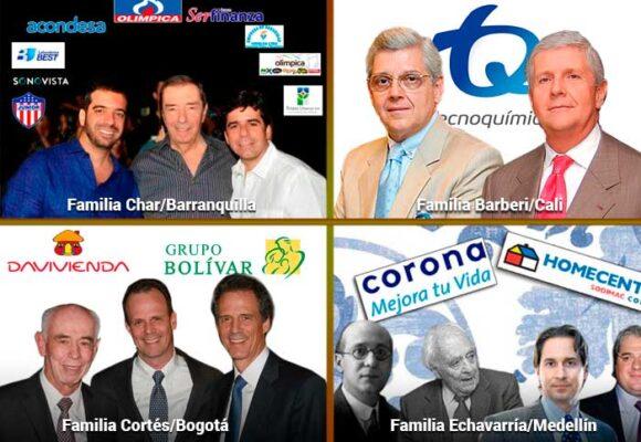 Las seis familias más ricas de Colombia, según Forbes