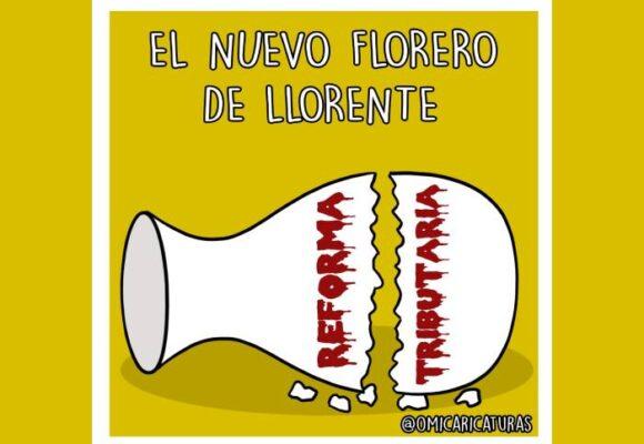 Caricatura: El nuevo florero de Llorente
