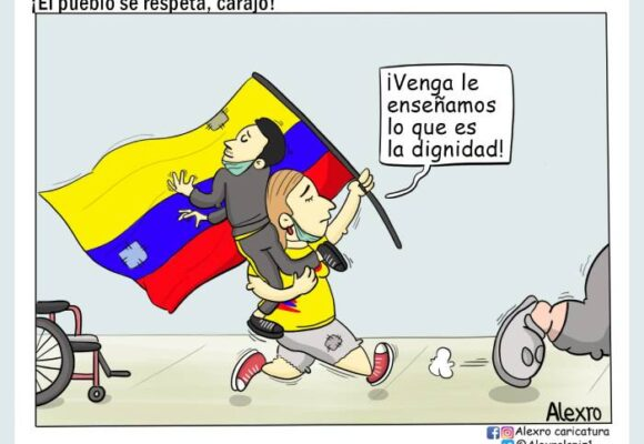 Caricatura: ¡El pueblo se respeta, carajo!