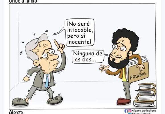 Caricatura: Uribe a juicio