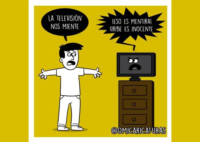 Caricatura: ¡La televisión nos miente!