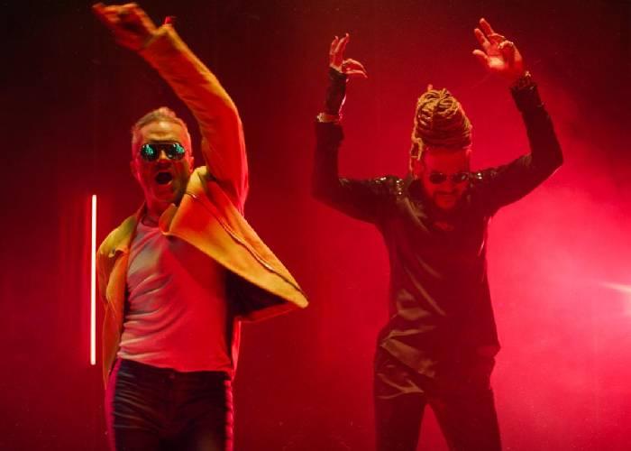 A ritmo de guaracha, Wilkins y Toño Rosario graban 'El tornillito'