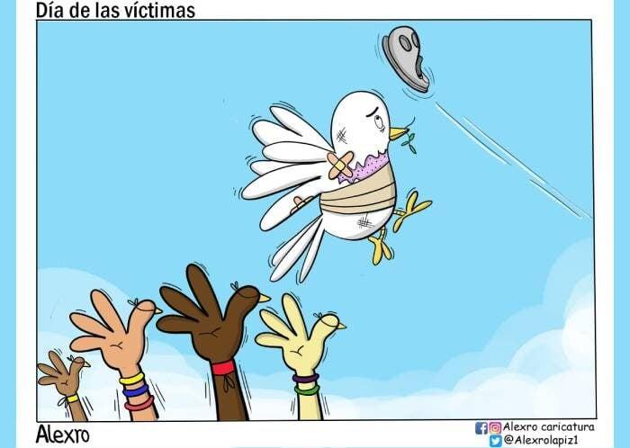Caricatura: Día de las Víctimas