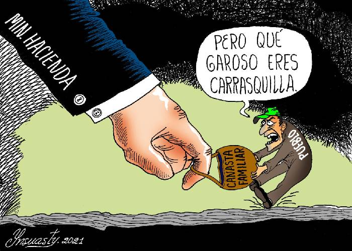 Caricatura: Forcejeo