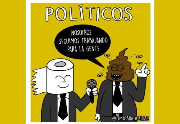 Caricatura: Los políticos y sus mentiras