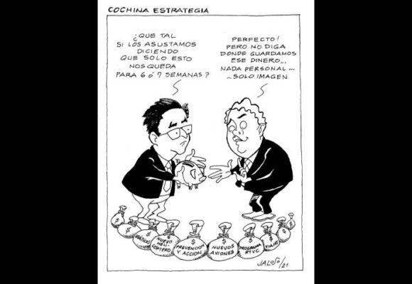 Caricatura: Cochina estretagia