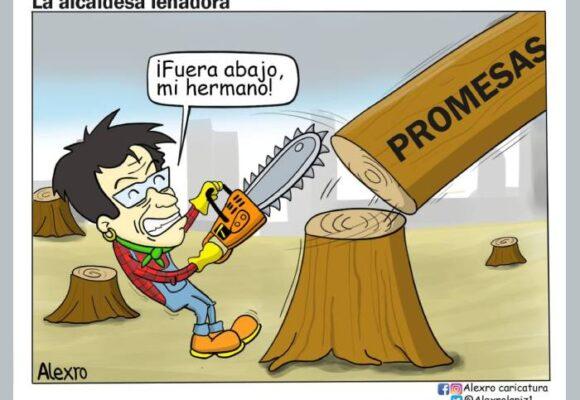 Caricatura: La alcaldesa leñadora