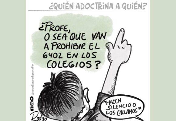 Caricatura: ¿Quién adoctrina a quién?