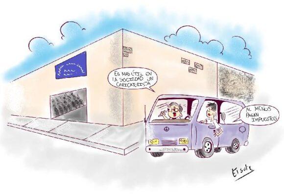 Caricatura: Al menos los caricaturistas pagan impuestos...