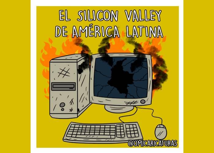 Caricatura: El Silicon Valley de América Latina...
