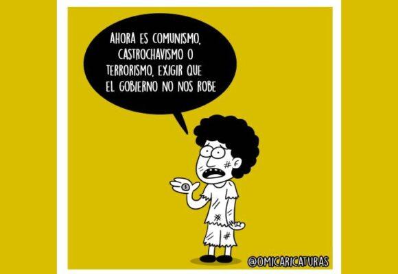 Caricatura: ¡Ahora todo es comunismo!