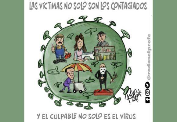 Caricatura: En la lucha por subsistir