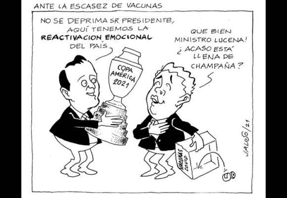 Caricatura: Ante la escasez de vacunas