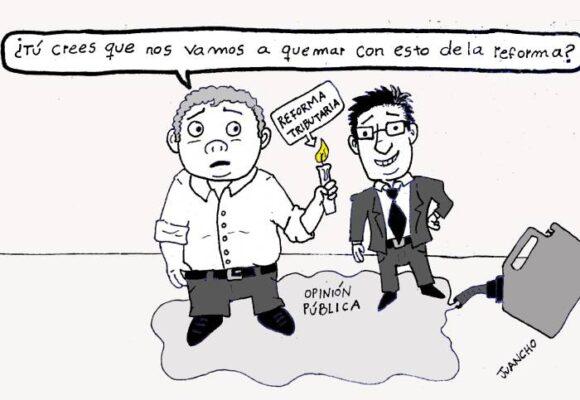 Caricatura: Quemados por la reforma