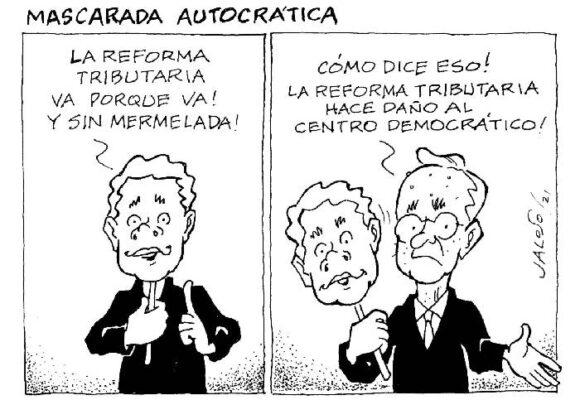Caricatura: Mascarada autocrática
