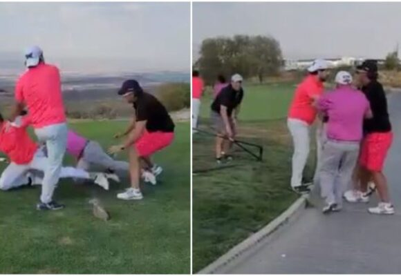 Video: Pelea de millonarios en club de golf
