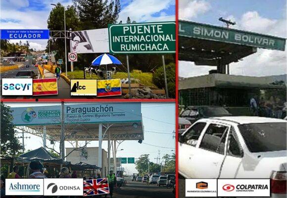 En manos de extranjeros los peajes de las fronteras de Colombia