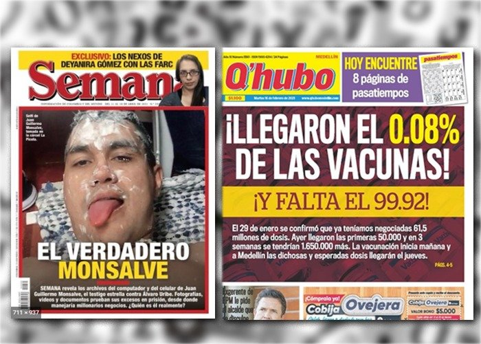 Las portadas por las que se considera que Q'hubo es mejor que Semana