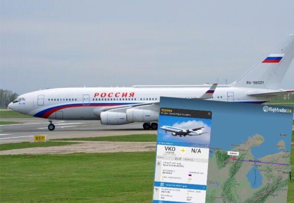 El avión de Putin que irrumpió en territorio colombiano