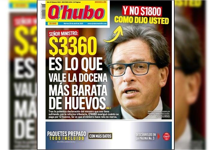 El Q'hubo nos da la venganza que necesitabamos: deja en ridículo a Carrasquilla