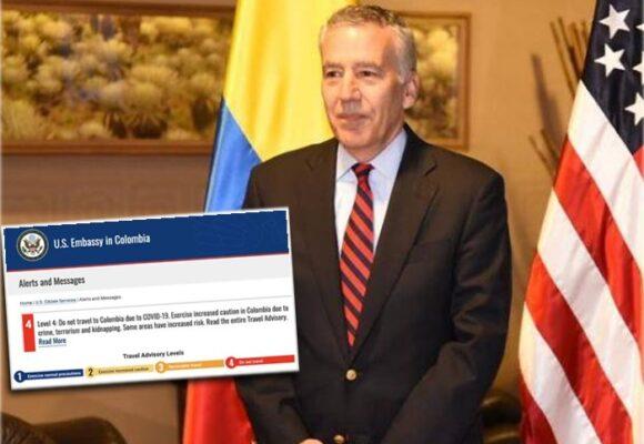 Estados Unidos alerta no viajar a Colombia