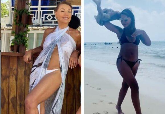La impresionante figura de Amparo Grisales en bikini