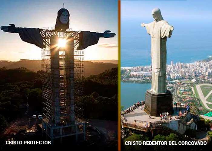 Brasileños compiten por superar su Cristo Redentor de Río de Janeiro