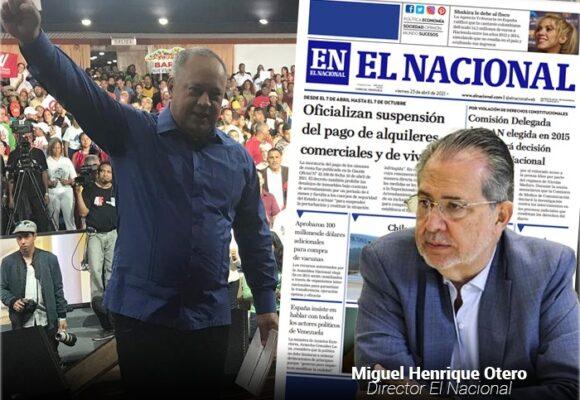 Diosdado Cabello vs 'El Nacional' de Venezuela: una pelea de 13 millones de dólares