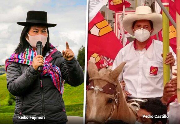 Keiko Fujimori se enfrentará a Pedro Castillo en segunda vuelta