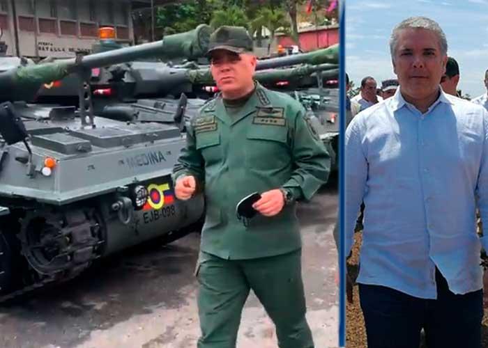 Los tanques de guerra con los que Maduro quiere intimidar a Duque