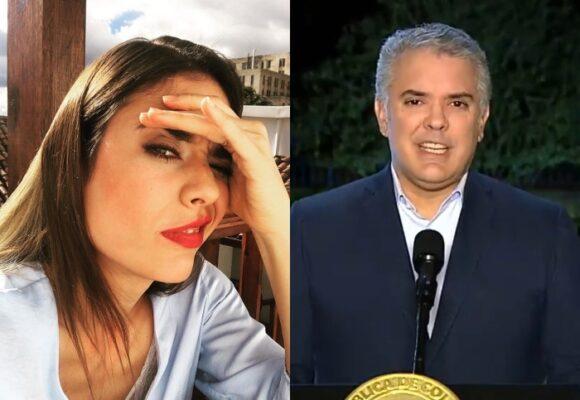 Vainazo de Carolina Ramírez a Iván Duque en Twitter
