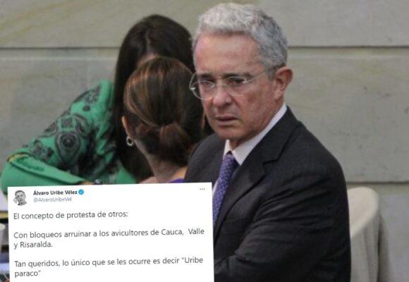 Álvaro Uribe Vélez está cansado que le digan