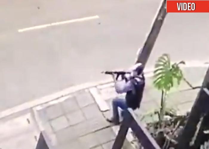 VIDEO: Con metralletas civiles disparan en Cali